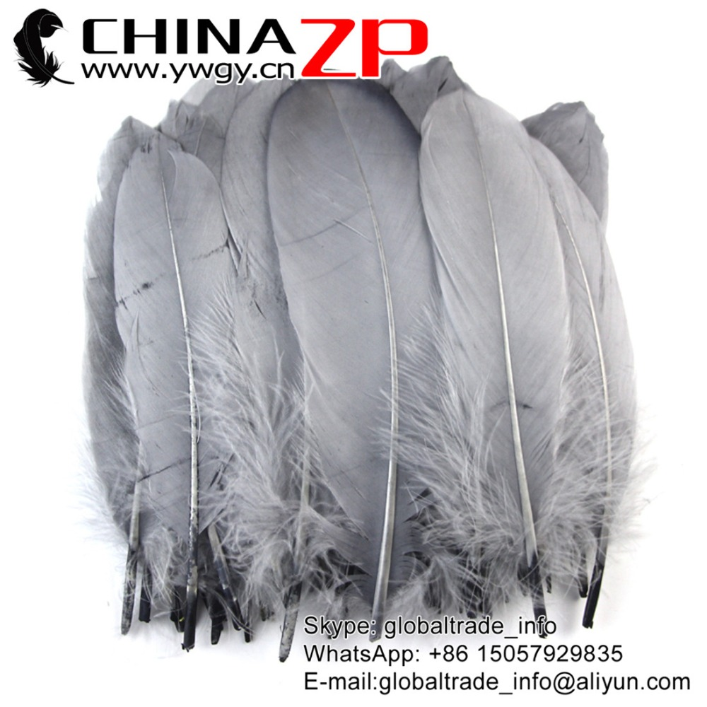 Gold Manufacturer CHINAZP Factory 500pcs/lot Hot Sale Dyed Grey Goose Loose Feathers for DIY Decorations