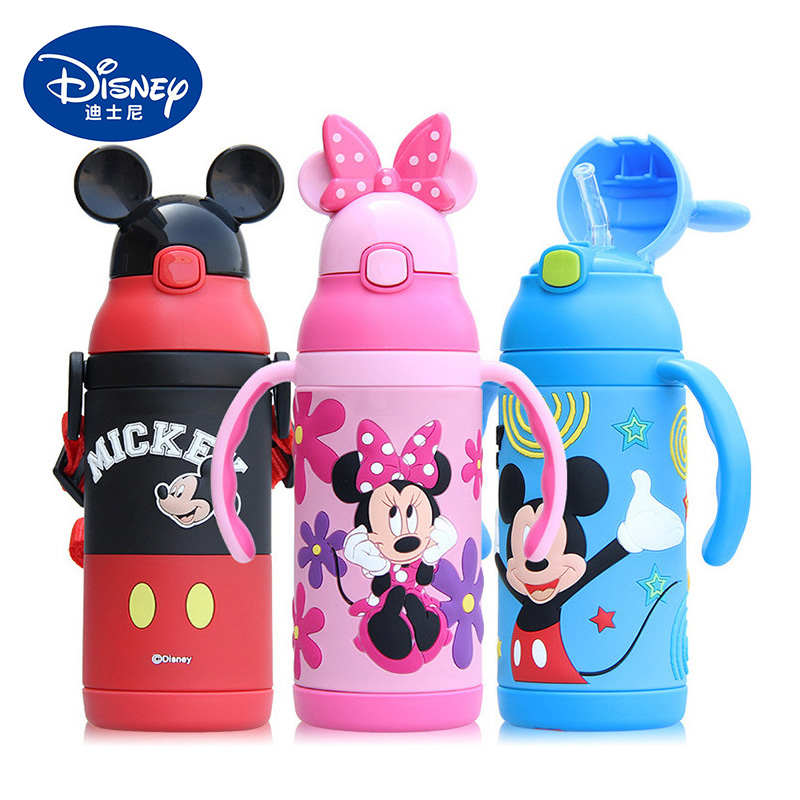 380ML Kids Stainless Steel Insulated Bottle with Straw Double Handle Thermos Water Cup Baby Boys Girls Feeding Thermal Cup|Cups|Mother & Kids - title=