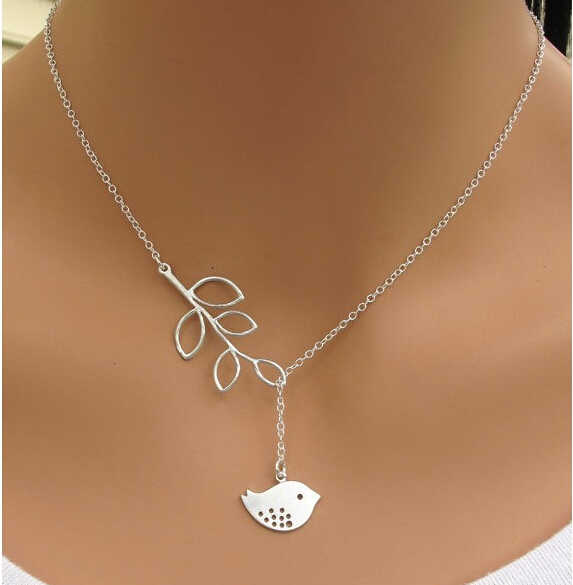高品質ビジュー Inifity ハートフクロウクリスタルクロス葉ミニマリスト鎖骨ペンダントネックレス女性の宝石チェーン Collares