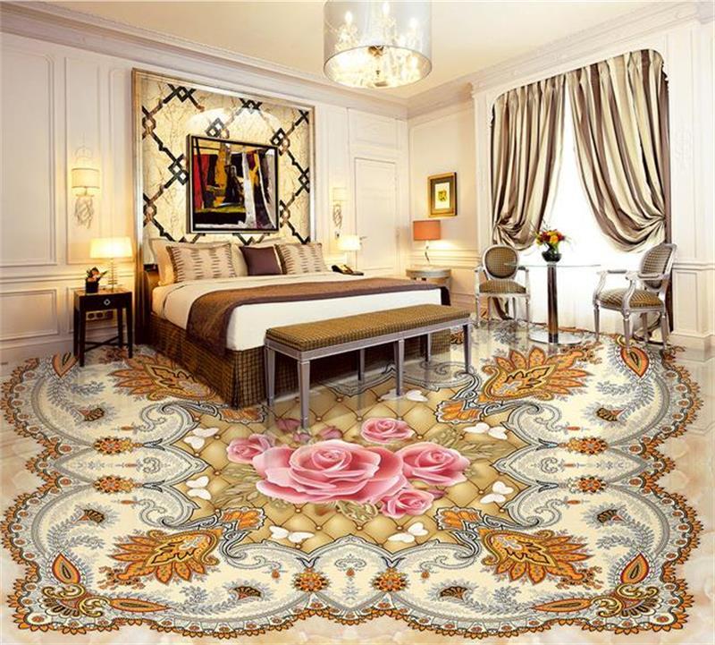 ФОТО Custom mural floor wallpaper 3d photo wallpaper rose butterfly soft marbles 3d photo bathroom self-adhesive PVC waterproof mural