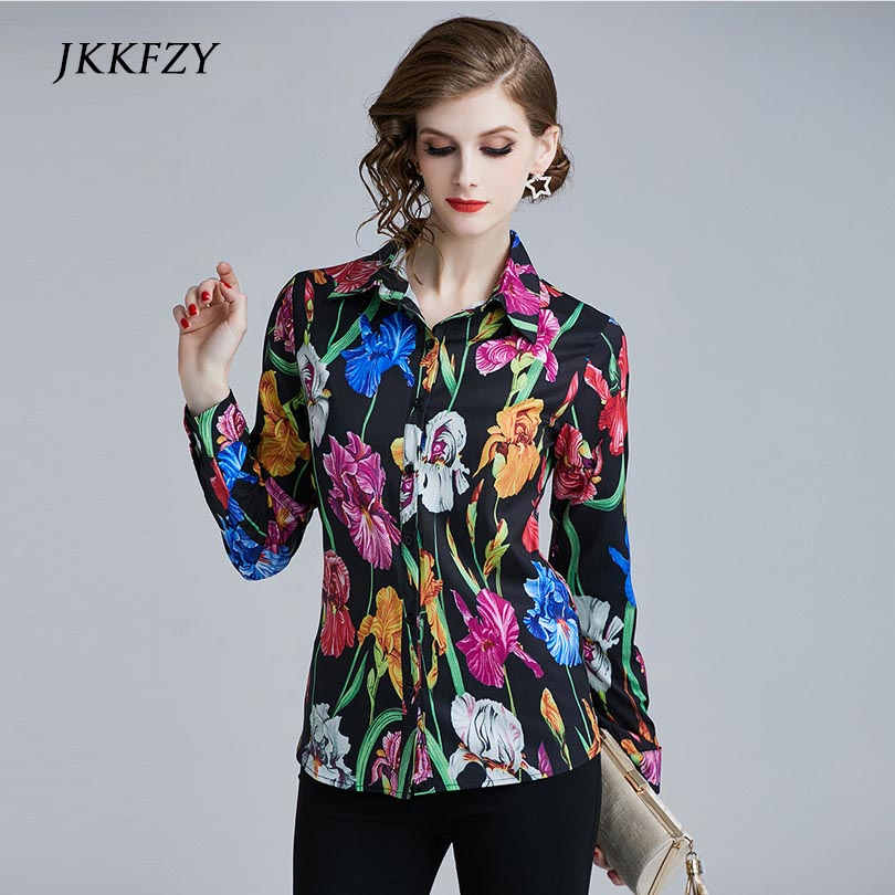 new arrivals Women's Flora Print Long sleeves shirt ladies elegant sweet tops ladies casual blouse Price $22.27