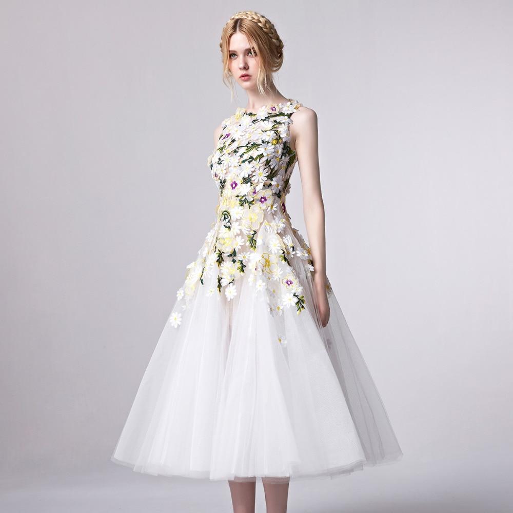 Aliexpress.com : Buy Coniefox 31301 Tea length Prom Dress