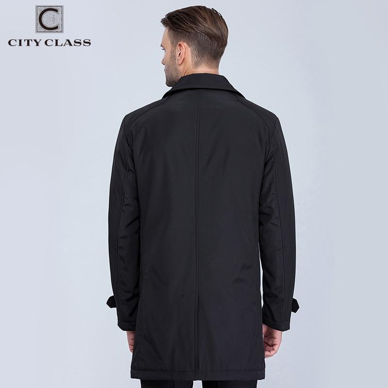 KOTA KELAS Baru Mens Musim Gugur Mantel Busana Kasual Klasik Parit - Pakaian Pria - Foto 3