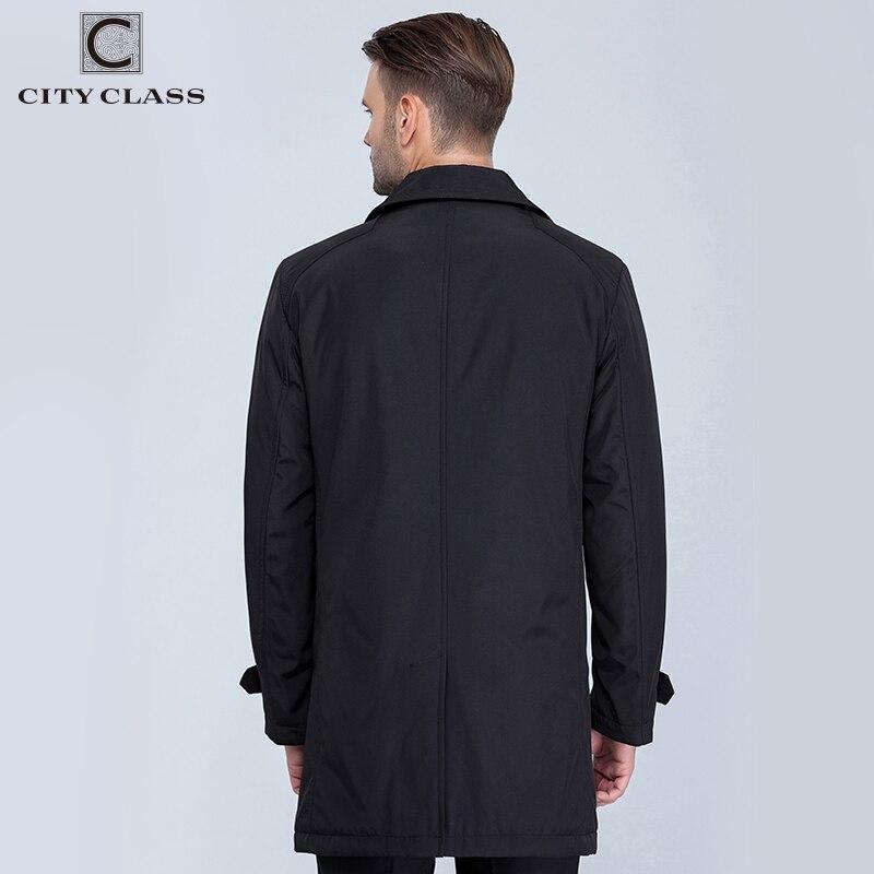 VILLE CLASSE Nouveau Hommes Automne Manteaux De Mode Casual Classique Trenchs Fit Turn-down Collar Vestes Manteaux Livraison Gratuite Pour mâle 1061-1 - 3
