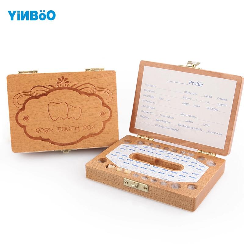 Teeth Box Organizer For Baby Save Milk Teeth Wood Storage Box Great Gifts 3 6 Years