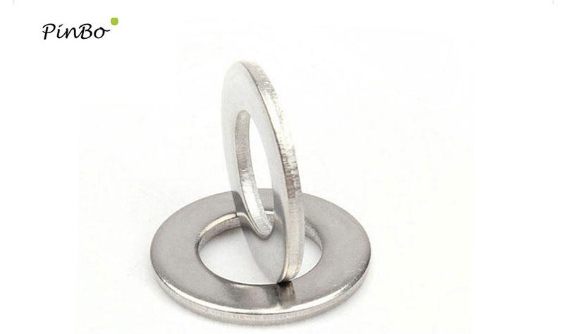 500pcs M5 Stainless Steel Flat Washer Plain Washer Flat Gasket Ring DIN125