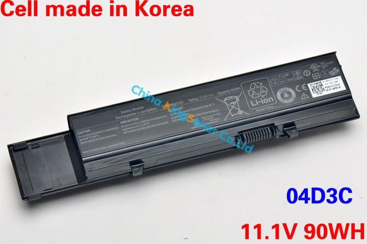 ФОТО 11.1V 90WH Korea Cell Original New 04D3C Battery for DELL Vostro V3400 V3500 V3600 V3700 04D3C Y5XF9 7FJ92 4JK6R 04GN0G 9CELL