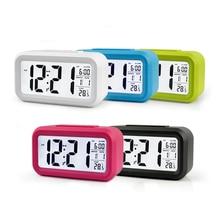 Smart Clock Thermo-Responsive Sleeping Alarm Silence Backlight Electronic Creative Digital Gift  Calendars