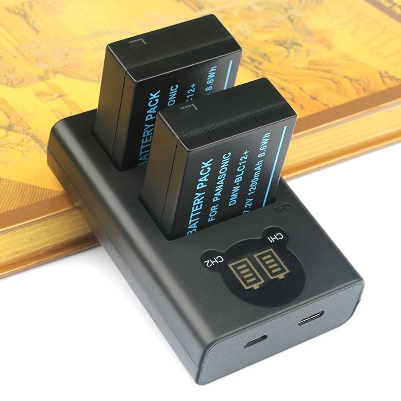 2PC DMW-BLC12 BLC12 Camera Bttery and Dual USB Charger for Panasonic DMC-G7/G70 DMC-GX8 DMC-FZ2000 DMC-G80 DMC-G85 DMC-FZ25002PC DMW-BLC12 BLC12 Camera Bttery and Dual USB Charger for Panasonic DMC-G7/G70 DMC-GX8 DMC-FZ2000 DMC-G80 DMC-G85 DMC-FZ2500