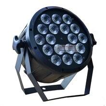 цены New Eyourlife 2015 LED Flat Par Lights 18x12W 4in1 RGBW Led Slim Par Can with EU US Plug for Club Party Stage Disco DJ Lighting