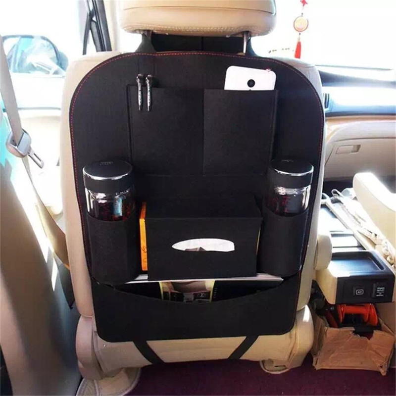 1pc New Car Seat Back Protector Felt Tidy Organiser Multi Pocket Pouch Storage Bag Universal Auto Car Accessories Car Seat Cover Skilful Manufacture