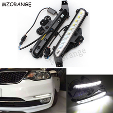 LED Daytime Running Light For KIA Rio 3 K2 2015 2016 2017 LED DRL Auto External Front Fog Light Car-styling LED Automotive Lamp