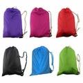 2016 Fashion Fast Inflatable Laybag Sleeping Bag Air Sleep Camping Bed Sofa Portable Beach Nylon Sleep Bed Bag 5 Color