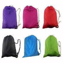 LKQBBSZ Fashion Fast Inflatable Laybag Sleeping Bag Air Sleep Camping Bed Sofa Portable Beach Nylon Sleep Bed Bag 5 Color