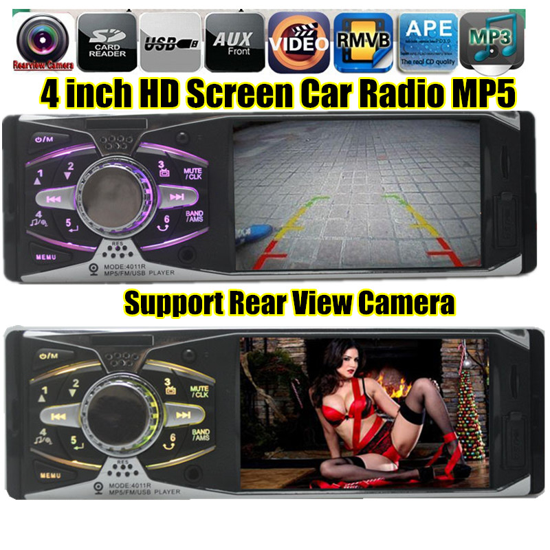 NEW 4 1 TFT HD Digital Car radio Stereo FM MP3 MP4 MP5 car Audio Video