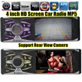 "Nova 4.1 "" TFT HD rádio Digital FM estéreo MP3 MP4 MP5 Car Audio Video Media player w / USB / SD MMC porta traseira câmera de traço"