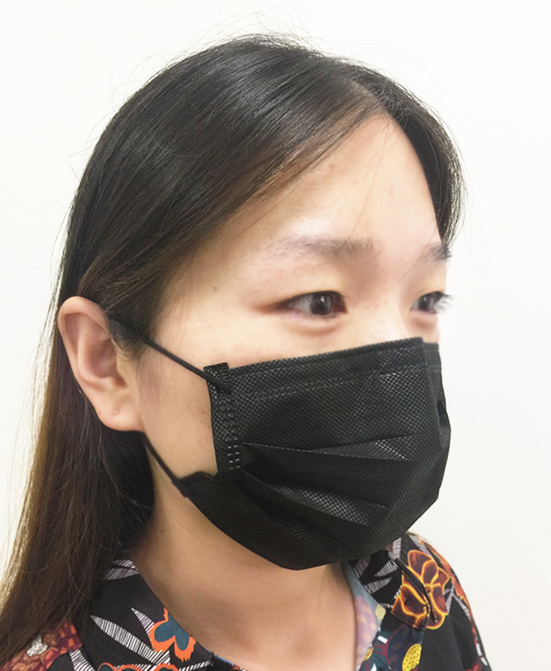 black surgical mouth mask