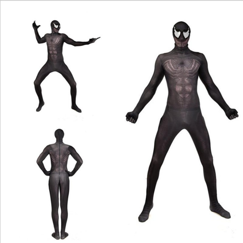 Adult Kids New Movie Venom Cosplay Costume Tom Hardy ...