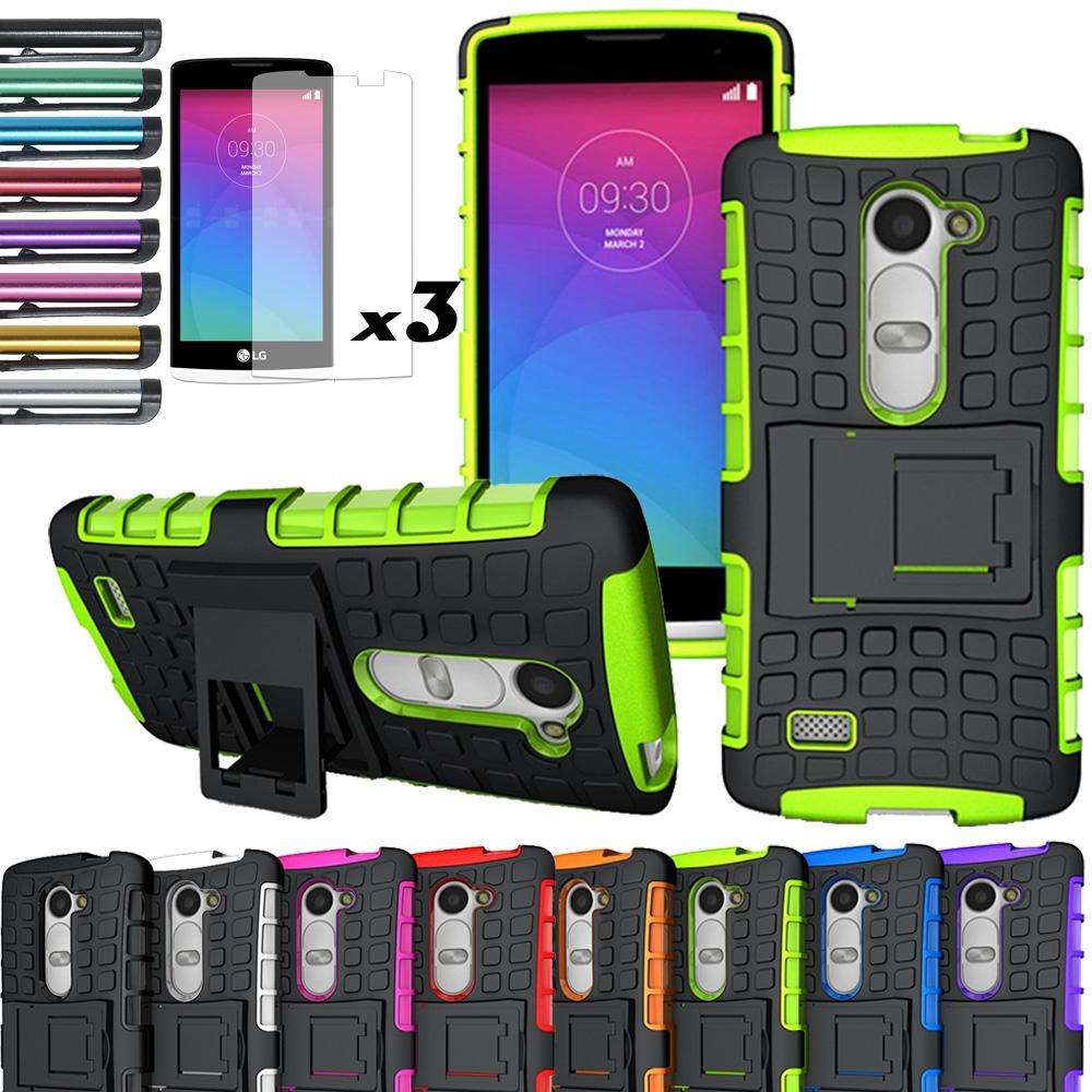 reputable site c9799 95116 US $1.59 16% OFF|Hybrid Rugged Impact Kickstand Case Skin With/Without  FILMS For LG Leon 4G/LTE C50/C40/Power L22C/Destiny L21G/Tribute 2 LS665-in  ...