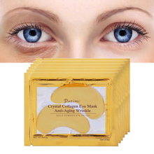 10Pcs=5Pack 24K Gold Eye Mask Crystal Collagen Eye Mask Anti Wrinkle Puffiness Remove Dark Circle Moisturizing Patches Eye Care