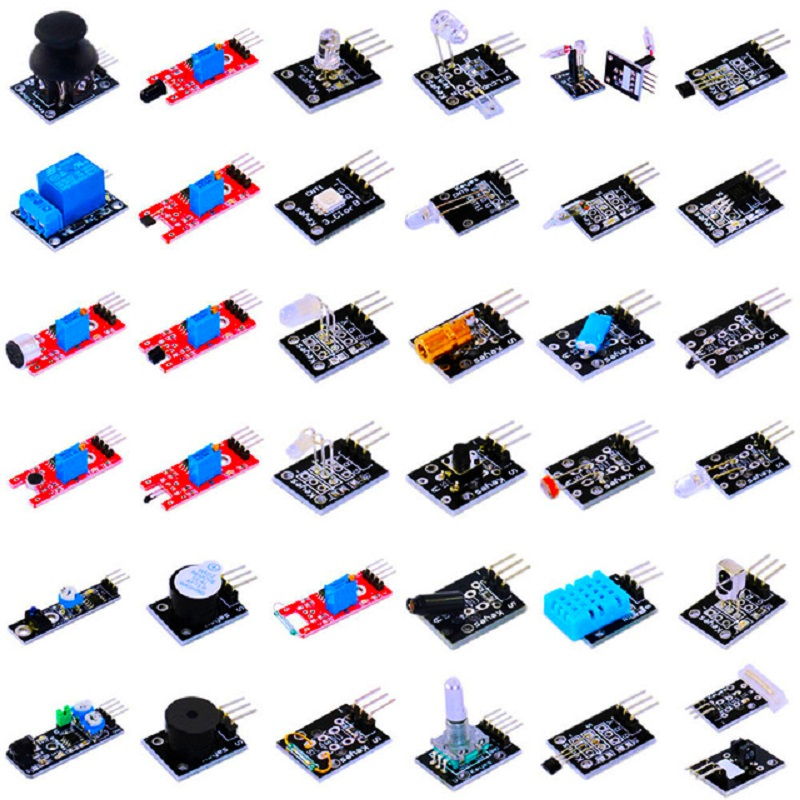 New Ultimate 37 in 1 Sensor Module Kit for Raspberry Pi 3 compatible arduino uno r3 high quality diy kit without assortment box