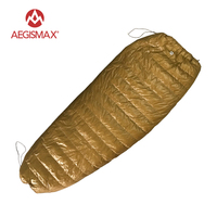 AEGISMAX LIGHT Outdoor Envelope Sleeping Bag 95 White Goose Down 800FP Camping Hiking Equipment Splicing Lazy