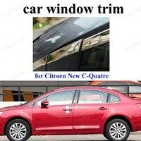 자동차 스타일링 스테인레스 스틸 장식 스트립 c-itroen 새로운 c-quatre 자동차 액세서리 창 트림