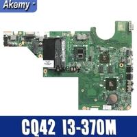 Placa Principal Para HP G42 637584 001 CQ42 G62 CQ62 DAXX1JMB8C0 Laptop motherboard Com Cpu onboard I3 370M