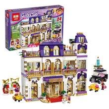 Lepin 01045 Meninas Amigos Heartlake Grand Hotel Building Block Bricks DIY Compatível Com Legoing 41101 Modelo para o Presente Meninas
