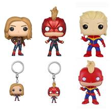 Funko POP Anime Captain Marvel Vinyl Doll Action Figure Kids Baby Movie Collectible Model Toys for Children Gift