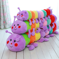 50cm Baby Toys Colorful Caterpillars Millennium Bug Doll Plush Toys Large Caterpillar Pillow Doll Toys Baby