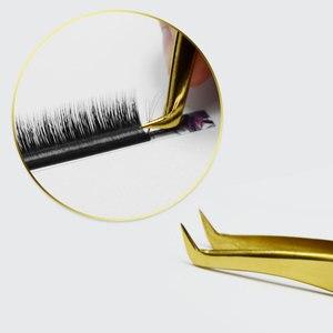 Image 5 - NAGARAKU 20 adet toplu satış rus kirpik uzatma cımbız kirpik cımbız yanlış kirpik cımbız 3D doğru kirpik cımbız