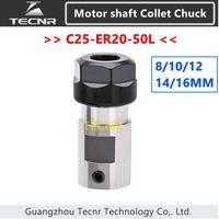 Spindle Motor Clamp Tool Rod C25 ER20 50L 8mm 10mm 12mm 14mm 16mm Shaft Motor Lengthened