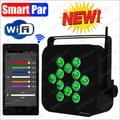 RGBWA+UV 6IN1 WiFi Smart Par Battery DMX Wireless Led Uplighting Wireless DMX LED Par Stage Light With Iphone, Ipad control