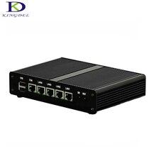 Без вентилятора Мини-ПК 4 ядра 4 LAN Celeron J1900 маршрутизатор Windows10 HTPC ТВ коробка 1 * VGA, 2 * USB 2.0 Intel HD Графика компьютерной безопасности
