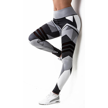 Women Sport Compression Leggings High Elastic Patchwork Pants for Running Gym Fitness Dry Quick Workout Yoga