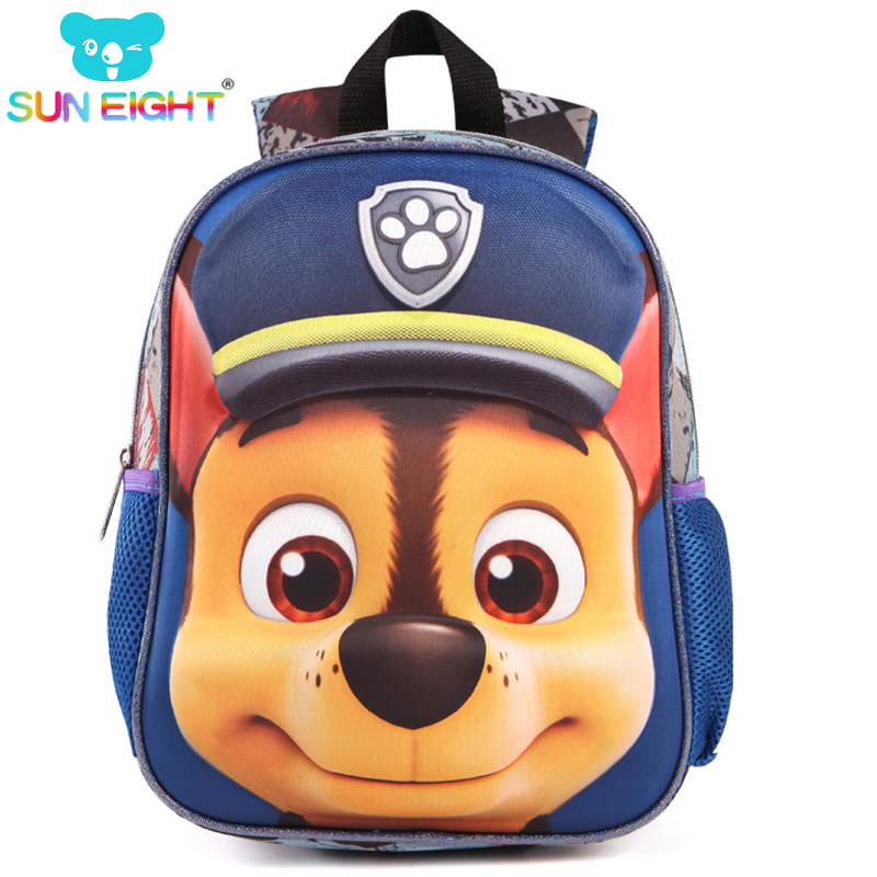 Cute Puppy Little Kid Backpack Cartton Printing School Bag Backpacks For Boys/girls of Kindergarten Bag