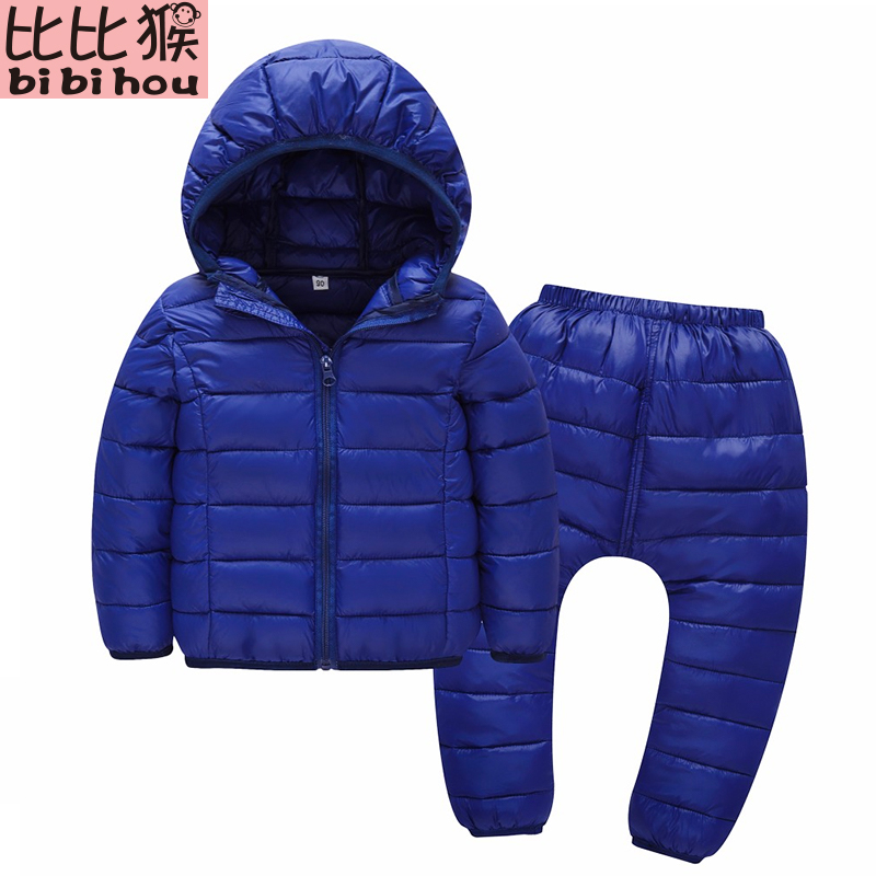 2017 Winter Jacket for girls Set Clothing children's winter suit down jacket Girls Boys Jacket+Pants 2pcs suit Snowsuit for boys