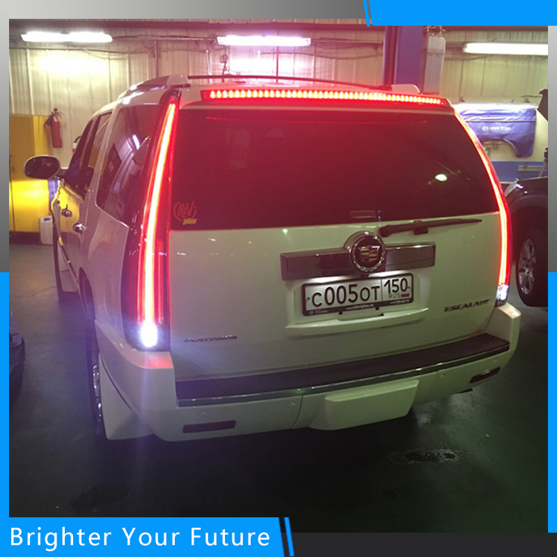 Vland LED Tail Lights For Cadillac Escalade ESV 2007 2008 2009 2010 2011 2012 2013 2014 LED Tail Light Rear Lamp Assembly citall rear spare tire cover tail bumper light fog lamp for mitsubishi pajero shogun 2007 2009 2010 2011 2012 2013 2014 2015