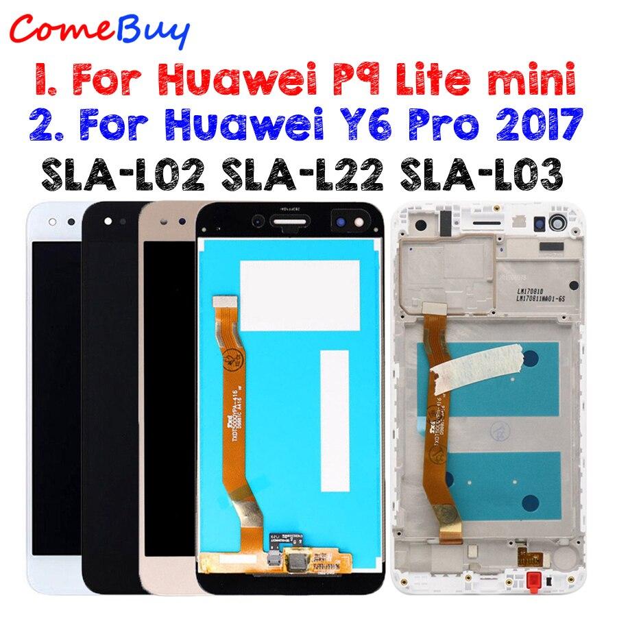 For Huawei P9 Lite Mini LCD Display Touch Screen For Huawei Y6 Pro 2017 LCD With Frame P9 Lite Mini LCD SLA L02 L22 L03 Screen