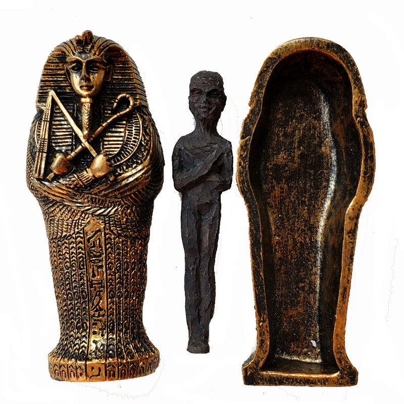 1pcs Resin Ancient Egyptian Coffin Figurine Sculpture Egypt Mummy Statue Small Ornaments Miniature Model Fish Tank Decoration6