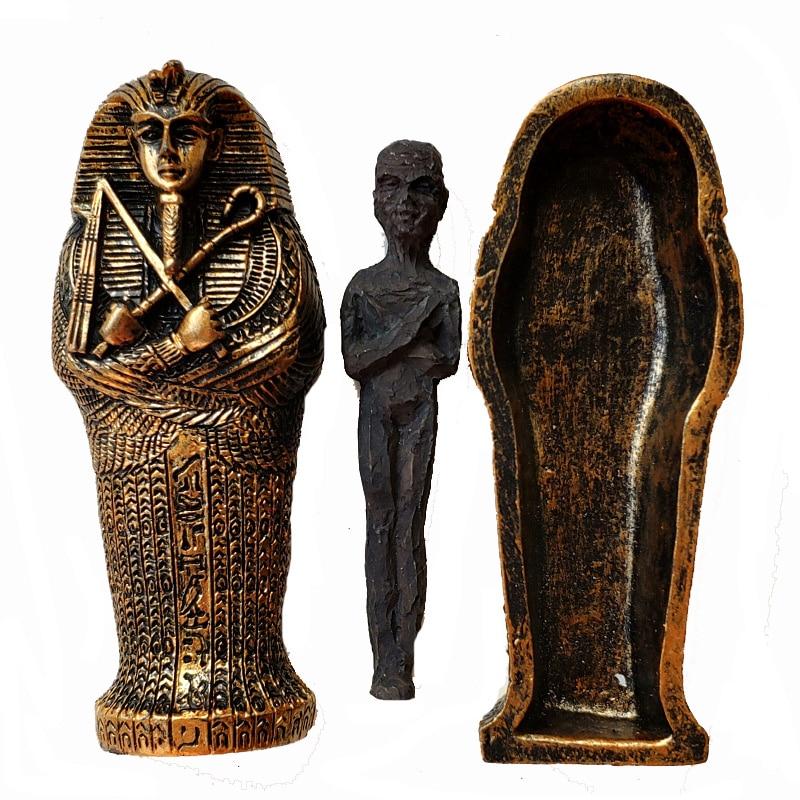 1pcs Resin Ancient Egyptian Coffin Figurine Sculpture Egypt Mummy Statue Small Ornaments Miniature Model Fish Tank Decoration6