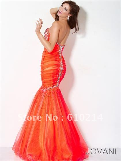 Aliexpress.com : Buy 2012 Designer Collection Orange Mermaid Style ...