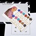 Роскошные 12 шт./лот булавки Брошь для женщин свадьбы платье небольшие красочные кристалл броши дамы броши хиджаб булавки