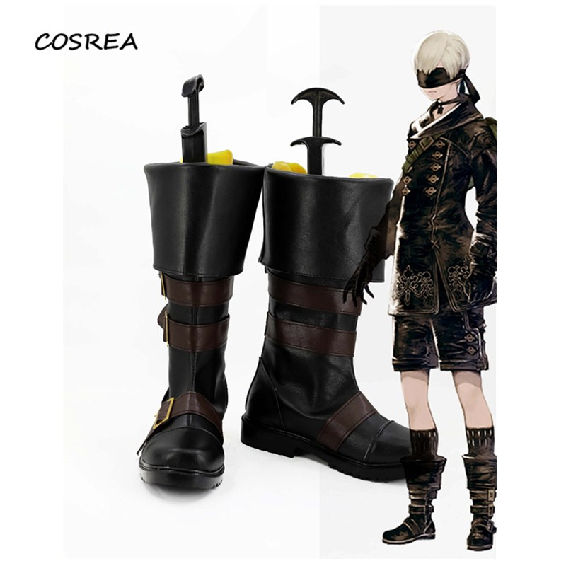 Game NieR Automata YoRHa No. 9 Type S 9S Cosplay Customes Boots Shoes Accessories Male Female Halloween Party Props custom made