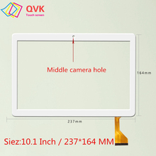 Black 10.1 inch for MediaTek T906 T 906 Capacitive touch screen panel repair replacement parts Size 237x164 mm