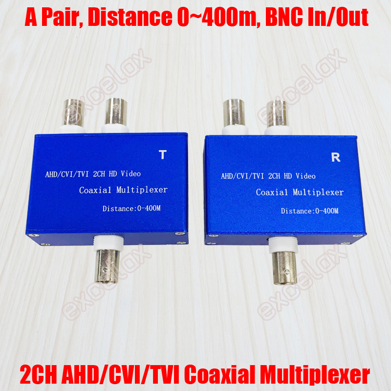 2 Channel 3MP 2MP 1080P HD AHD CVI TVI CVBS Coax Video Signal Multiplexer 2CH Transmitter