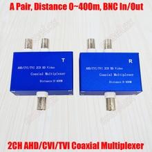 2 канала 3MP 2MP 1080P HD AHD CVI TVI CVBS коаксиальный видео сигнал мультиплексор 2CH передатчик и приемник коаксиальный кабель расстояние 400 м