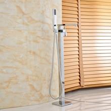 Оптом и в розницу хромированная отделка Ванна смеситель для душа с Пластик Handshower