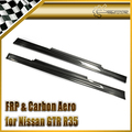 Автомобиль стайлинг Для Nissan GTR R35 Nismo Стиль Углеродного Волокна Сторона Юбка